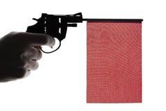 Gewehrverbrechenkonzept der Handpistole lizenzfreie stockbilder