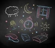 Geweißte Skizzen der Schlafenszeit Farbe Stockbilder