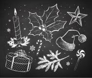 Geweißtes Weihnachten skizziert Sammlung Stockfoto