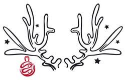 Geweih, Weihnachten vektor abbildung