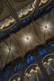 Gewelfde kathedraalplafonds Stock Foto's