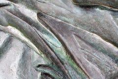 Gewellte Bronzebeschaffenheit Hintergrund Lizenzfreie Stockbilder