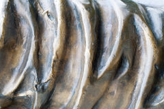 Gewellte Bronzebeschaffenheit Hintergrund Stockfotos