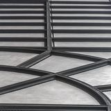 Gewellte Decke mit Radial- und horizontalem Muster stockbilder