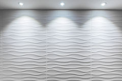 Gewellte Form der weißen Fliese Lizenzfreie Stockbilder