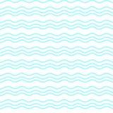 Gewellte Linie Vektorillustration des Türkises Geometrisches Muster Nahtloser Hintergrund Abstrakte Beschaffenheit für Tapeten Stockfotografie