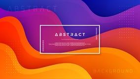 Gewellter bunter Hintergrund mit Art 3D Moderner fl?ssiger Hintergrund Abstrakter Hintergrund mit dem mischenden Rosa, blau und o stock abbildung