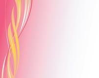 Gewellter eleganter Vektor des abstrakten Hintergrundrosas Lizenzfreies Stockbild