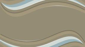 Gewellter Hintergrund Browns, Licht und blaue Linien vektor abbildung