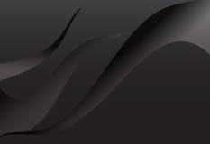 Gewellter Hintergrund der schwarzen Steigungszusammenfassungs-Kurve stock abbildung