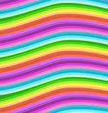 Gewellter Streifenhintergrund des Regenbogens lizenzfreie abbildung
