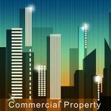 Gewerblich genützter Grundbesitz bedeutet Illustration Real Estate-Verkaufs-3d Stockfotografie
