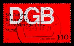 Gewerkschaft, 50. Jahrestag der Vereinigung des Deutschen handelt Verband serie, circa 1999 Lizenzfreies Stockfoto
