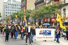 Gewerkschaftlich organisierte Arbeitskräfte stockfoto