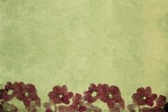 Geweven achtergrond met bloemenelementen Stock Afbeeldingen