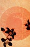 Geweven achtergrond met flora Stock Afbeelding