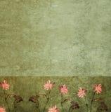 Geweven achtergrond met flora Royalty-vrije Stock Afbeeldingen
