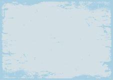 Geweven achtergrond van pastelkleur de blauwe grunge met grens Stock Foto