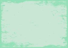 Geweven achtergrond van pastelkleur de groene grunge met grens Royalty-vrije Stock Afbeeldingen