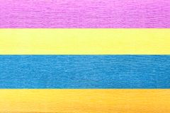 Geweven achtergrond van verfrommeld document van vier kleuren Royalty-vrije Stock Afbeelding