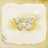 Geweven achtergrond - vlinder Royalty-vrije Stock Foto