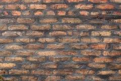 Geweven achtergronden, - Abstracte oude bruine bakstenen muur stock afbeelding