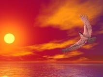 Geweven adelaar royalty-vrije illustratie