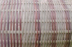 Geweven bamboe Royalty-vrije Stock Foto's