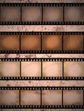 Geweven de filmstrook van Grunge Stock Foto's
