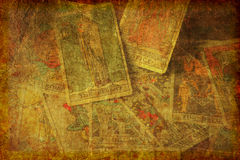 Geweven de Kaartenachtergrond van het Grungetarot Stock Afbeelding
