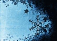 Geweven de winterachtergrond van de Grungestijl Stock Foto