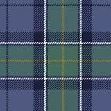 Geweven donkere geruite Schotse wollen stofplaid Royalty-vrije Stock Fotografie