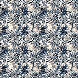 Geweven drukontwerp Dierlijk patroon vector illustratie
