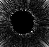 Geweven element met grungy radiale lijnen cirkel ruwe textur stock illustratie