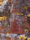 Geweven geel, grijs en terracotta grunge backgr Royalty-vrije Stock Fotografie