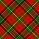 Geweven geruite Schotse wollen stofplaid Stock Foto