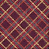 Geweven geruite Schotse wollen stofplaid royalty-vrije illustratie