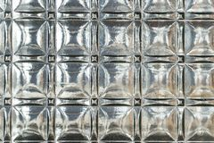 Geweven glaspaneel met sterke bezinningen en diepe schaduwen Stock Afbeelding