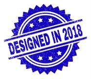 Geweven Grunge ONTWORPEN IN de Zegelverbinding van 2018 vector illustratie