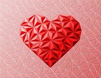 Geweven hartteken op netachtergrond. Royalty-vrije Stock Afbeelding