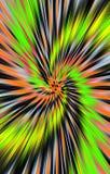 Geweven heldere kleurrijke achtergrond De stroken en de vlekken divergeren van het midden in een spiraal aan de randen royalty-vrije illustratie