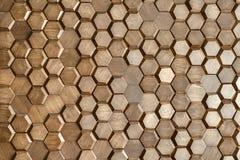 Geweven houten muur Stock Afbeelding