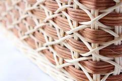 Geweven houten oppervlakte Stock Foto