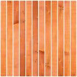 Geweven houten planken op wit Royalty-vrije Stock Afbeelding
