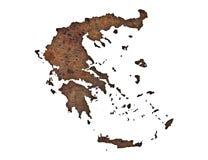 Geweven kaart van Griekenland in aardige kleuren royalty-vrije stock afbeelding
