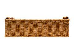Geweven kabelmand met handvatten zijaanzicht Stock Fotografie