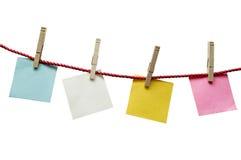 Geweven Lege Documenten die op Kabel hangen Stock Afbeelding