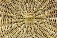 Geweven mand houten bruin rijs als achtergrond Royalty-vrije Stock Foto