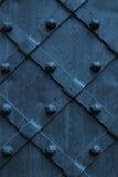 Geweven metaal uitstekende achtergrond met grungeoppervlakte Royalty-vrije Stock Foto's