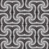 Geweven metaal vector 3d naadloos patroon royalty-vrije illustratie
